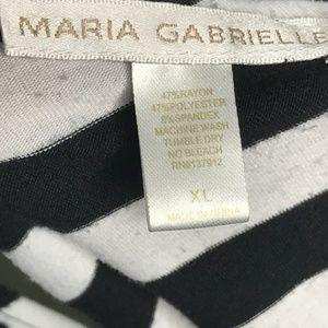 Maria Gabrielle Tops - Maria Gabrielle Black Striped Tank Top A160415